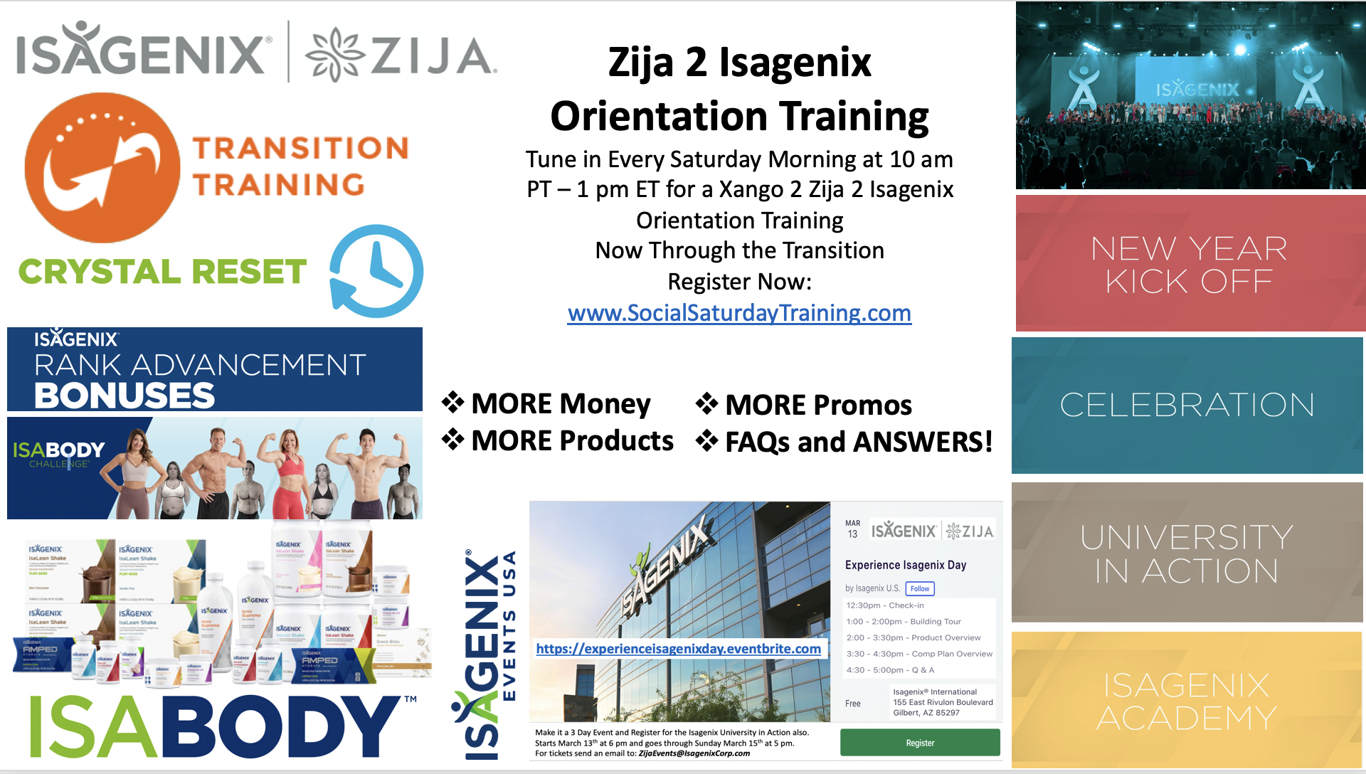 Zija 2 Isagenix Transition Training @ Zoom Webinar