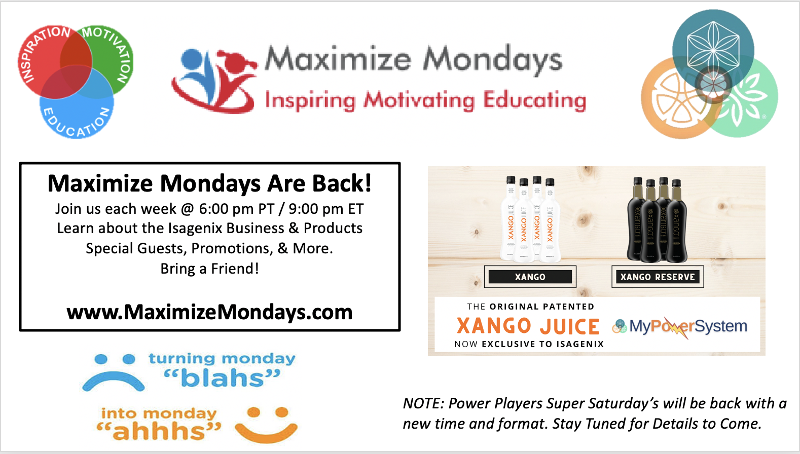 Maximize Monday's Isagenix Business Overview